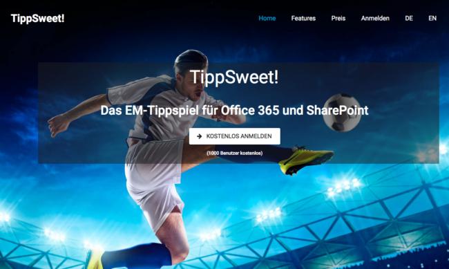 Tippsweet – EM-Tippspiel für Unternehmen